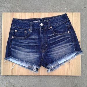 EUC american eagle 2 hi rise festival jean shorts